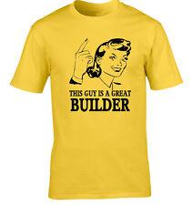 constructeur T-shirt idée cadeau unique modèle occupation Job drôle Bricky
