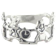 Alice in Wonderland Ring - 925 Sterling Silver - White Rabbit Queen Alice NEW