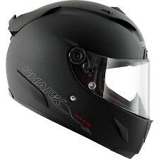 Shark Race-R Pro Blank Matt Black Motorcycle Helmet & Visor Crash Protection