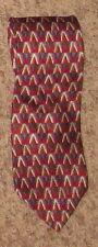 Burgandy Red Multicolor Italian Silk Stafford Necktie Tie
