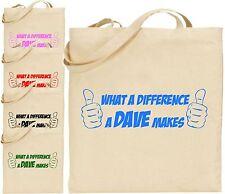 ! qué diferencia Dave hace Grande Bolso Divertido Broma Cool Compras Regalo De Navidad