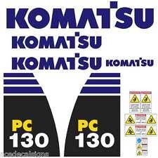 Komatsu PC130-8 PC160-8 PC200-8 PC220-8 New Repro Excavator decals Stickers Kit