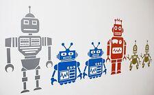Robot Retro Fresco Sci-fi Pegatinas de Pared Arte Calcomanías/- Varios Colores