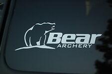 Bear Archery Vinyl Sticker Decal CHOOSE SIZE & COLOR!! Bow Hunting Hunter (V77)