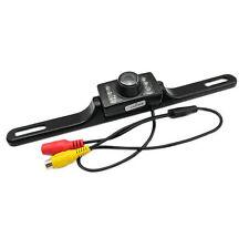 Telecamera retromarcia per auto 7 led infrarossi per montaggio su targa