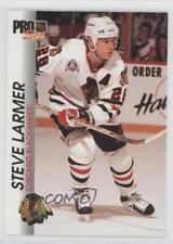 1992-93 Pro Set #31 Steve Larmer Chicago Blackhawks Hockey Card
