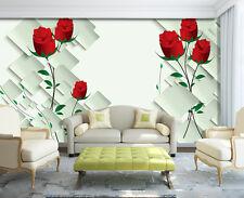3D Rose Grandir Photo Papier Peint en Autocollant Murale Plafond Chambre Art