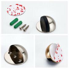 Self Adhesive Oval Door Stopper Anti Collision Zinc Alloy Door Stops Hardware