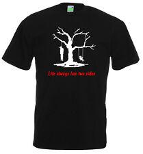 Life always has two sides   Spruch T-Shirt   Gothic Dark Emo Tod Boy      10-664