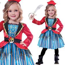 infantil Pirata Disfraz de Princesa Halloween 3-10 Años Rojo Capitán Amscan