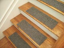 """Premium Carpet Stair Tread Sets - Rugged Silver - 30"""" x 8"""""""