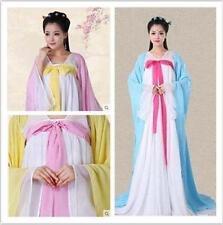 Chinese Tang Dynasty Ruqun Hanfu Suit Cosplay Women Long Sleeve Dress Costume @