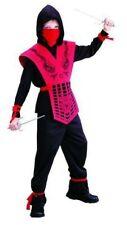 Ninjakostüm Kostüm Ninja Rot für Kinder rotes Kinderkostüm  Gr 122 - 158