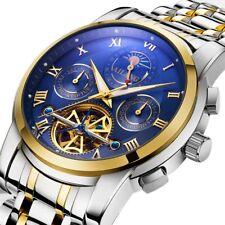 Tourbillon Automatic Mechanical Men Wrist Watches Analog Swiss Steel Wristwatch