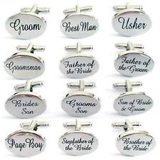 Wedding Custom Cuff & Links Gift Personalised Usher Groom Best man Godfather