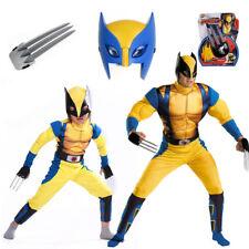Cool Wolverine X-men Superheo Costume Lycra Spandex Kids Cosplay Halloween Adult