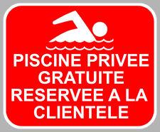 PISCINE PRIVEE GRATUITE CLIENTELE CAMPING AUTOCOLLANT STICKER CAM253