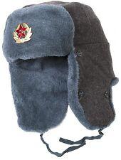 Soviet Army soldier surplus ushanka winter hat. Trapper Bomber Ear Flaps