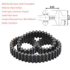 D8M/Pitch 8mm Black Rubber Double Sides Tooth Gear Timing Belt Transmission Belt
