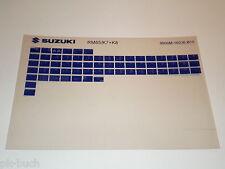 Microfich Ersatzteilkatalog Suzuki RM 85 Stand 2008