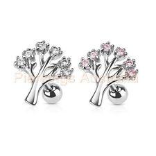 16G Gem Tree Cartilage Tragus Bar Ear Ring Piercing Stud Body Jewellery