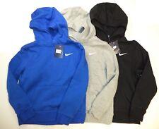 Nike boys Brushed Fleece Pullover hoodie blue gray black 619080 NEW!