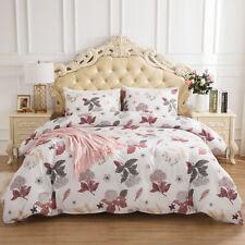 Reversible Duvet Cover Quilt Bedding Pillowcase Twin Queen King Comforter Jia88