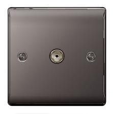 BG Nexus Metal NBN60 - BLACK NICKEL 1 Gang TV COAX Co-Axial Socket Outlet