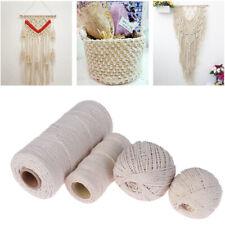 100% Natural Beige Cotton Twisted Cord Crafts DIY Macrame Artisan String 2019