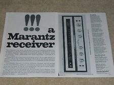 Marantz Model 18 Classic Receiver Ad, 2 pages, 1967, Specs, Articles, Info