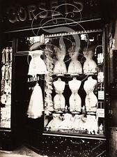 PLAQUE ALU DECO PHOTO ANCIENNE EUGENE ATGET BOULEVARD STRASBOURG CORSETS 1912
