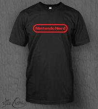 Nintendo Nerd T-Shirt Nintendo Logo Top Switch Mario Smash Bros Pokemon Sword