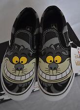 Disney Chesire Cat Alice in Wonderland Youth Vans Slip-On MANY SIZES