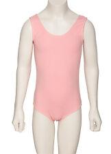 Girls Childrens Pink RAD Cotton Sleeveless Ballet Dance Leotard KDC036 By Katz
