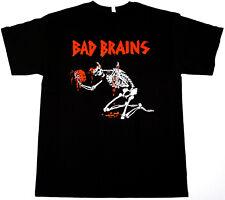 BAD BRAINS T-shirt Hardcore Punk Reggae Metal Tee Adult S,M,L,XL,2XL Black New