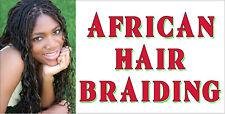 AFRICAN HAIR BRAIDING BRAIDS SALON VINYL BANNERS  (CHOOSE YOUR SIZE)