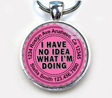 I Have No Idea What I'm Doing Tea Rose Custom funny 11 colors pet dog cat tag