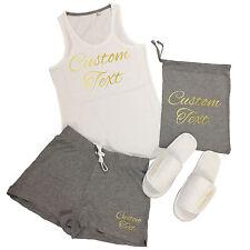 Custom Printed Vest Top & Shorts Pyjamas Set - Personalised Sleep Over Party PJs