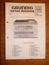 Service-Manual Grundig R 400/cc 420/430 Hi-Fi, originale