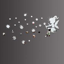Fee mit Sternen Spiegel Set Deko Goldspiegel Kunststoff PS mit Klebepunkt