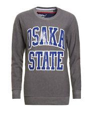 Superdry Women's Grey Marl Osaka State Pullover Sweatshirt