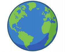 Samunshi Planet Erde Aufkleber Sticker Autoaufkleber Scheibenaufkleber