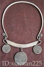 minority Guizhou Miao Silver Handmade Necklace W1573