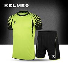 Kelme Soccer Goalkeeper Jersey Goalie Short Sleeve Shirt Shorts with Pad Adult