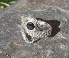 Ring Octopus Tintenfisch Krake mit Onyx schwarz Sterling Silber 925