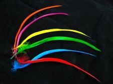 60 Individual Goose Biot Feathers 15cm Long Craft Fascinator Fringe Hats Fly