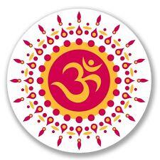 2 x OM Symbol Hindu Yoga Luggage Vinyl Sticker Laptop Travel Luggage #4123