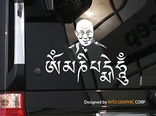 "Om Mani Padme Hum  Vinyl Car Decal Sticker 6.5"" (w) Dalai Lama Tibet Tibetan"