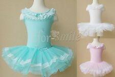 Kinder Mädchen Ballett Kleid Ballettanzug Tanzkleid Tutu Tüllrock Party Kostüm