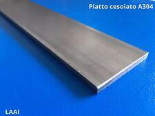 Barra piatto in acciaio inox AISI 304 da 30x3 cm. 100 200 300
